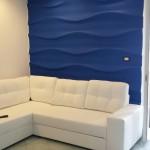 Pannello decorativo in gesso a parete 3D