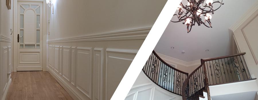 Stucchi sorrentino realizzazione e vendita stucchi for Decorazioni moderne pareti